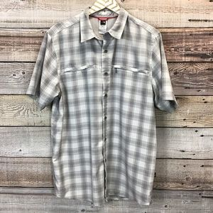 The North Face Button Front Shirt Plaid White